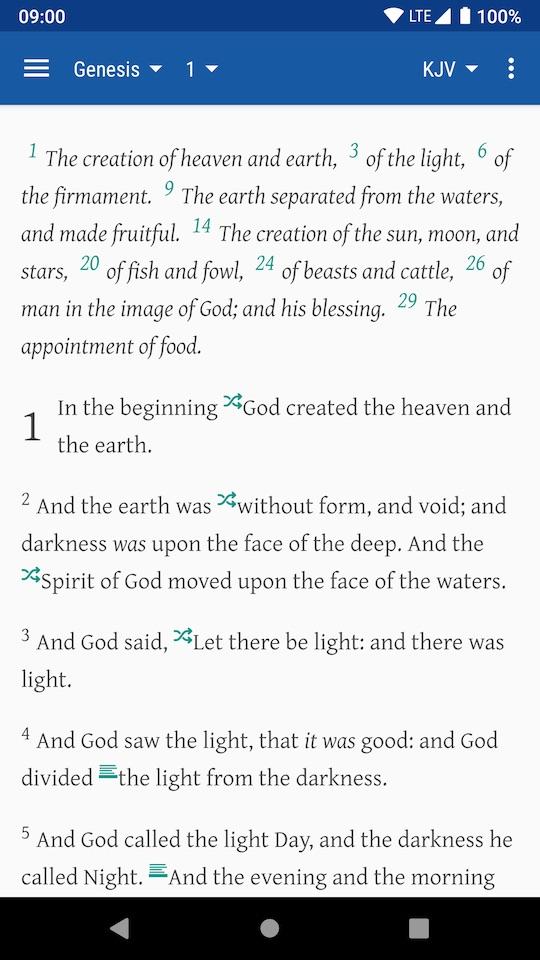 Dove Bible - keep simple, focus typesetting